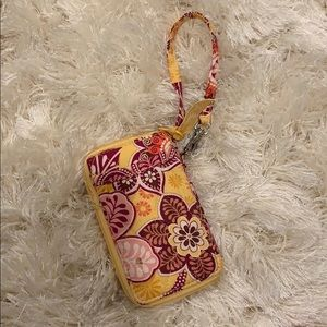 Vera Bradley small wristlet with card slots